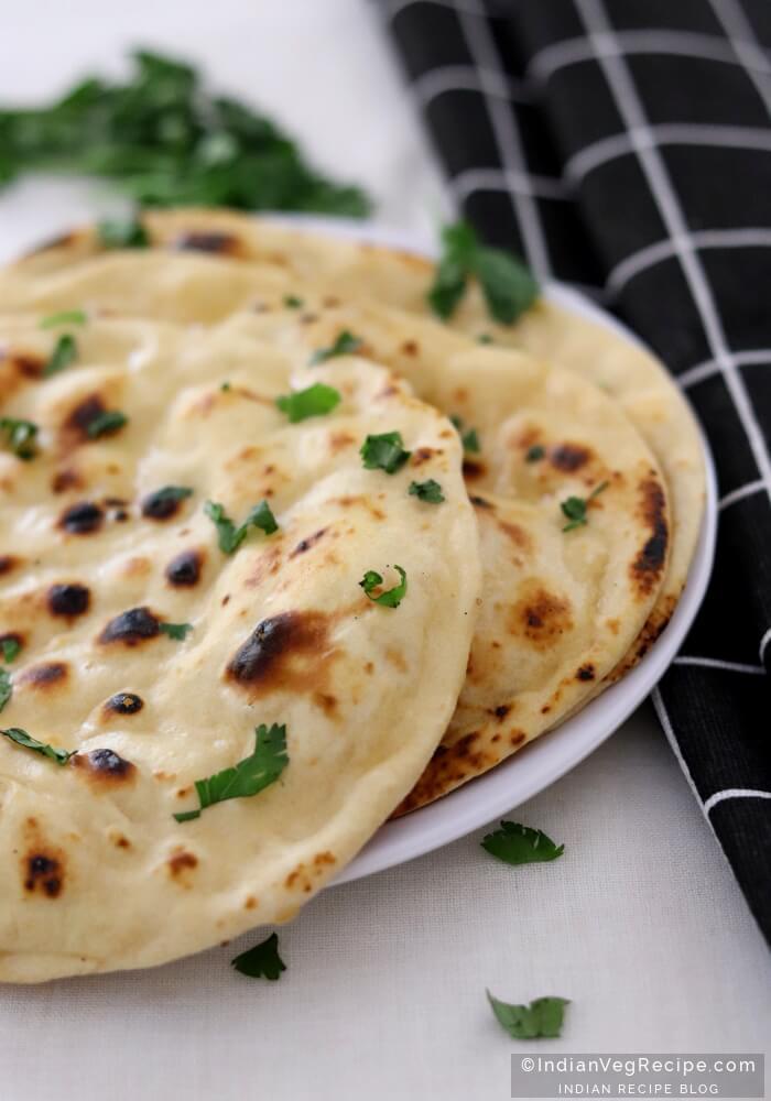 Butter Naan Recipe | How to Make Naan (Tawa Naan)