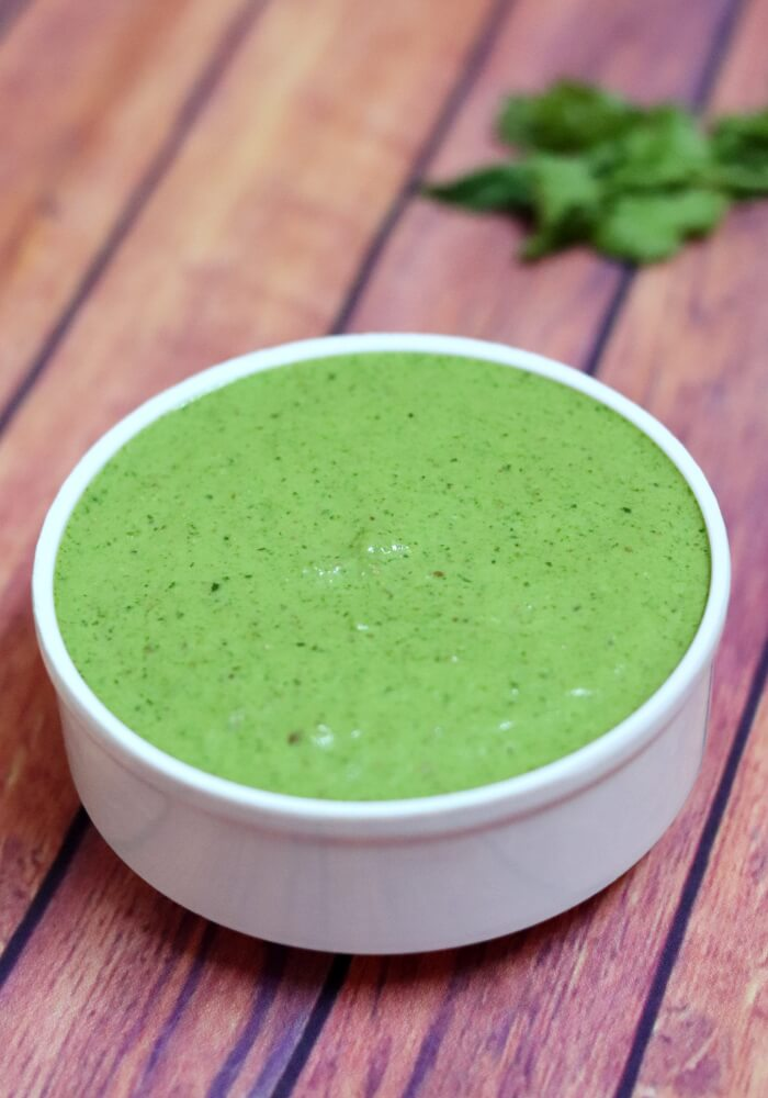Green Chutney Recipe - Hari Chutney For Chaat, Sandwich