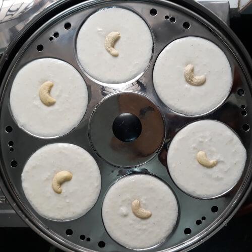 Put In Idli Cooker - Suji Idli Recipe