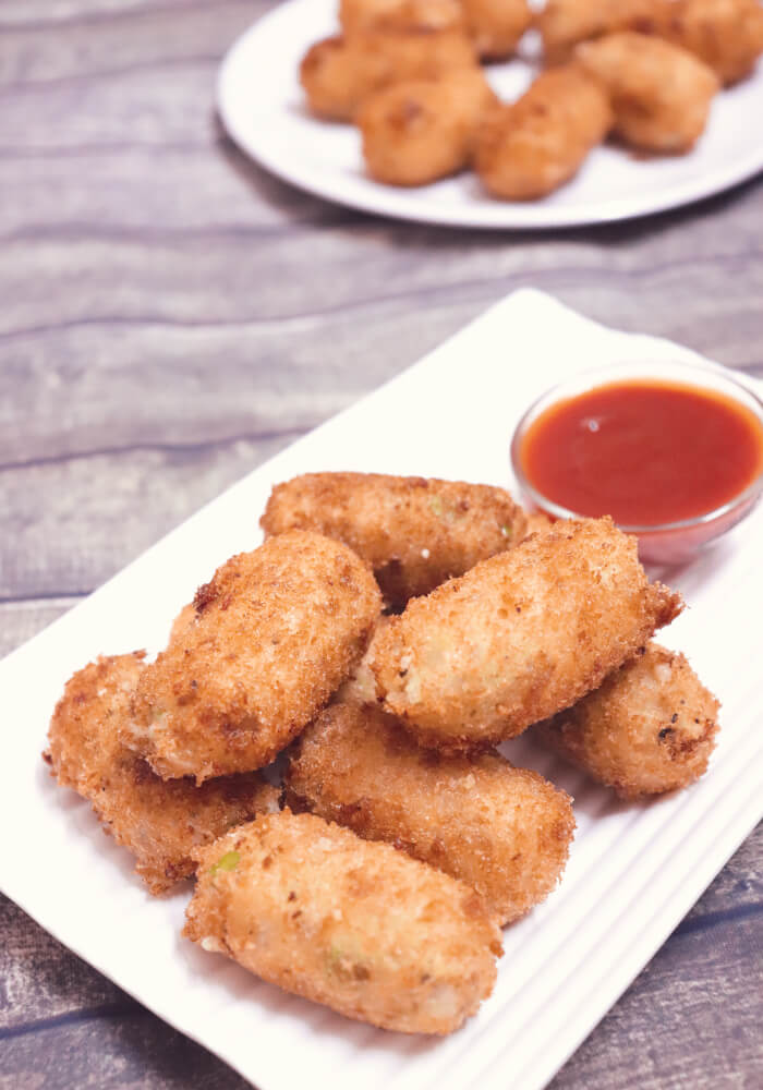 Potato Nuggets Recipe | How to make Cheese Potato Nuggets
