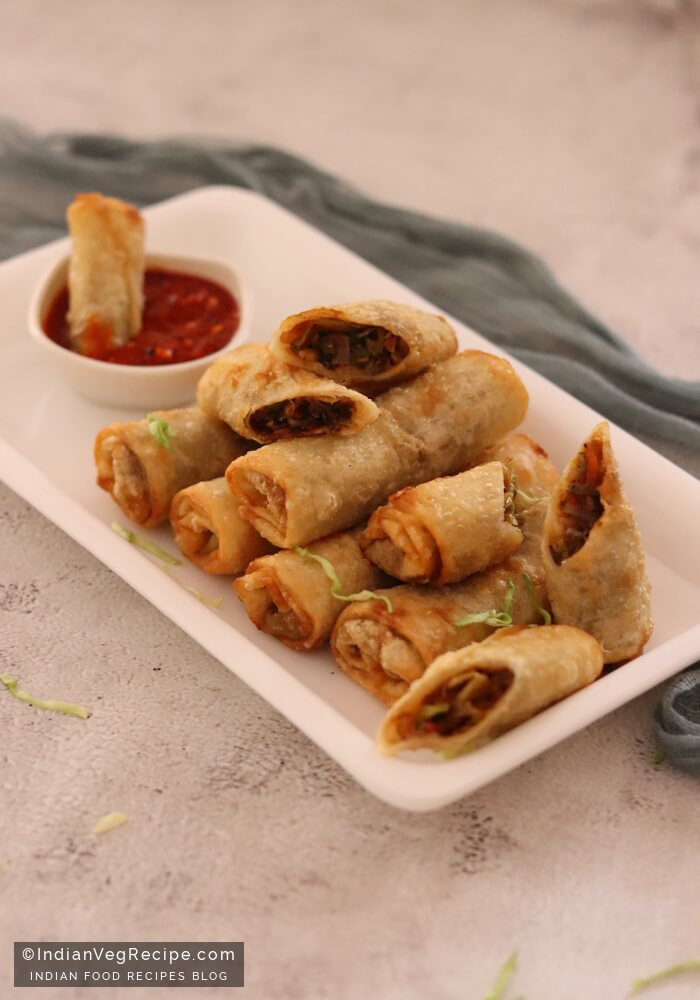 Spring Roll Recipe How To Make Veg Spring Roll Indian Veg Recipe